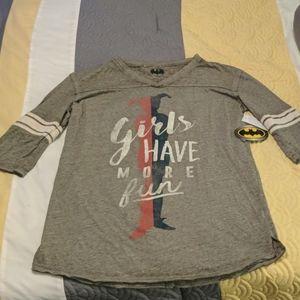 Harley Quinn 3/4 sleeve shirt